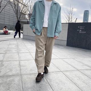 GU - 大人気 完売 GU オープンカラーシャツ 長袖 グリーン M