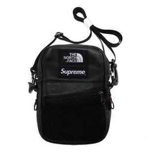 Supreme - Supreme TNF Leather Shoulder Bag 黒