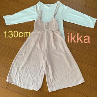 ikka - ikka ロンパース(ピンクベージュ)