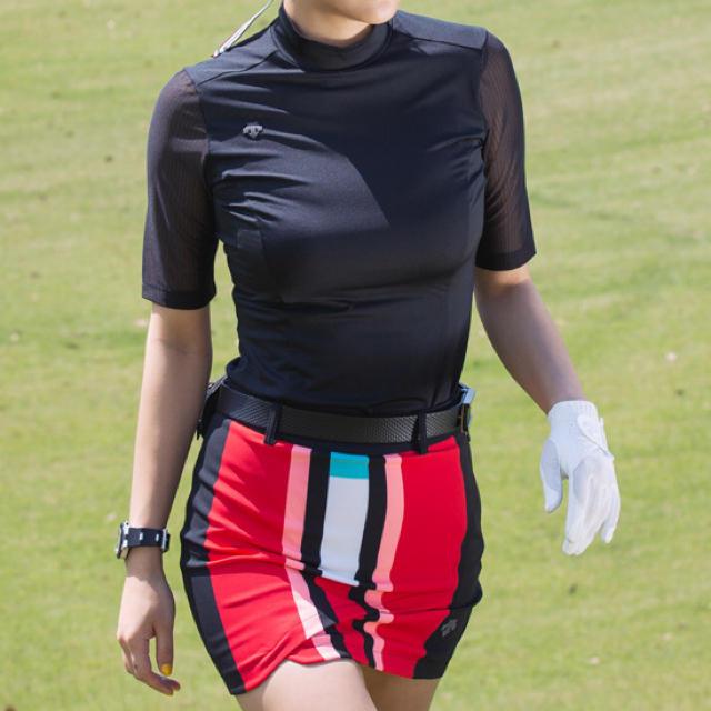 DESCENTE(デサント)の☆DESCENTE GOLF☆新品/正規/タグ付き ハイネックシースルー スポーツ/アウトドアのゴルフ(ウエア)の商品写真