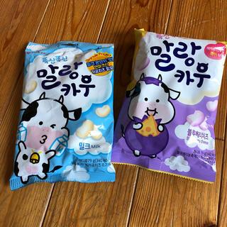 マランカウ 韓国土産 ミルク ブルーベリーチーズ 2種セット!(菓子/デザート)