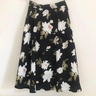 WEGO - Aライン花柄スカート フレアスカート