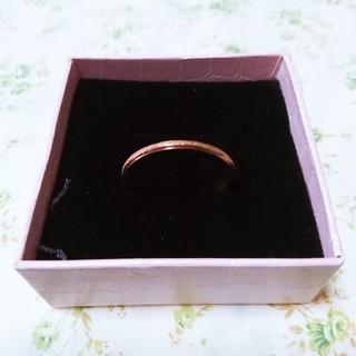 リング 指輪 29号 フロスト加工 ステンレス ピンクゴールド(リング(指輪))