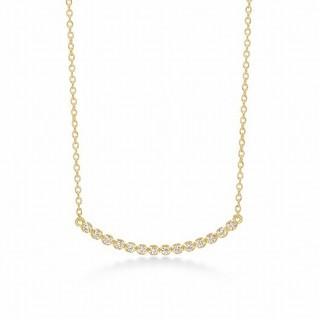 AHKAH - 美品 アーカー ビリーブユー ショート ダイヤモンド 横並び K18