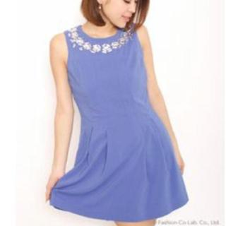 ロイヤルパーティー(ROYAL PARTY)のロイヤルパーティー ブルー パーティー ドレス(ミディアムドレス)