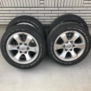 プラド ホイール ホワイトレター タイヤ