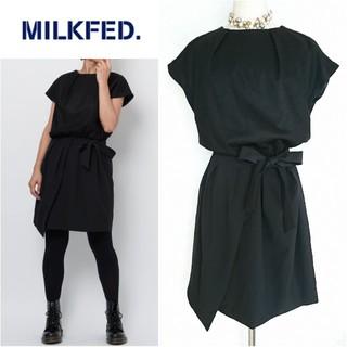MILKFED. - 未使用◆MILKFED.*ミルクフェド◆異素材ドッキングリボンドレスワンピース