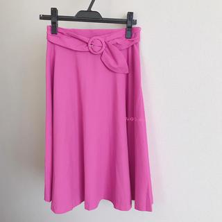 Debut de Fiore - ビビットカラーリングベルトスカート ピンク サイズ38