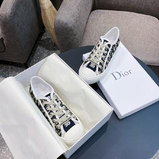 Dior - Dior オブリーク刺繍キャンバス スニーカー