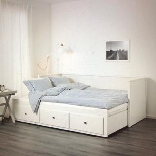 イケア(IKEA)のIKEAヘムネスベッド セミシングル セミダブル 大阪配達可能 直接引き取り処分(セミシングルベッド)