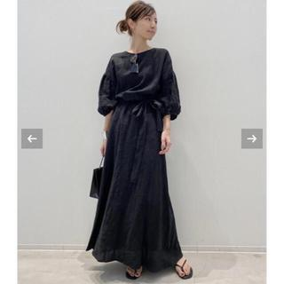 L'Appartement DEUXIEME CLASSE - L'Appartement Linen Madam Dress☆ブラック