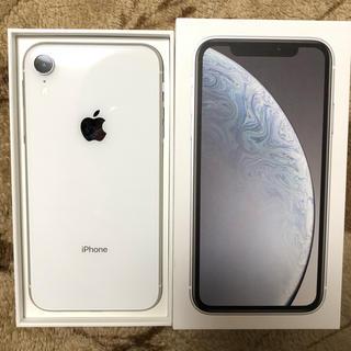 iPhone - iPhoneXR 64GB SIMフリー ホワイト 美品