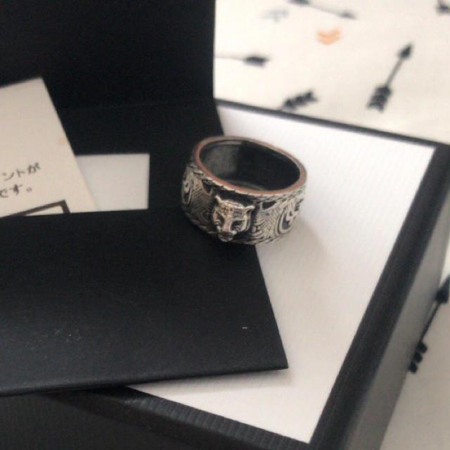 Gucci(グッチ)のGUCCIリング キャットヘッド メンズのアクセサリー(リング(指輪))の商品写真