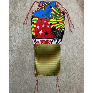 クリスチャンディオール(Christian Dior)の激レア Dior ディオール ラスタマニア ニット ドレス 38 ガリアーノ(ミニワンピース)