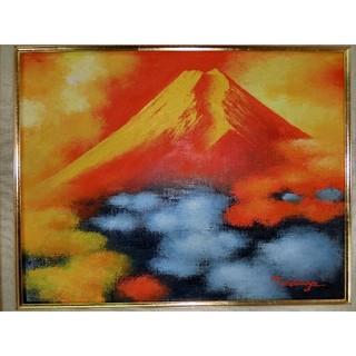 【お薦め】土屋茂真筆(赤富士)6号(絵画/タペストリー)