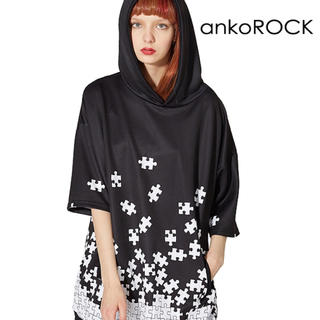 ankoROCK - ankoROCKバラバラパズル半袖プルオーバーパーカー -スーパービッグ-