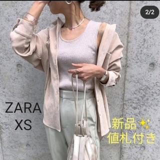 ザラ(ZARA)の新品値札付き☆ZARAコーデュロイシャツベージュ(シャツ/ブラウス(長袖/七分))