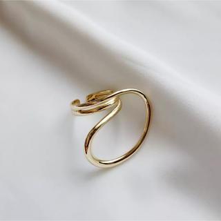 トゥデイフル(TODAYFUL)のsilver925 ゴールドリング no.85 (リング(指輪))