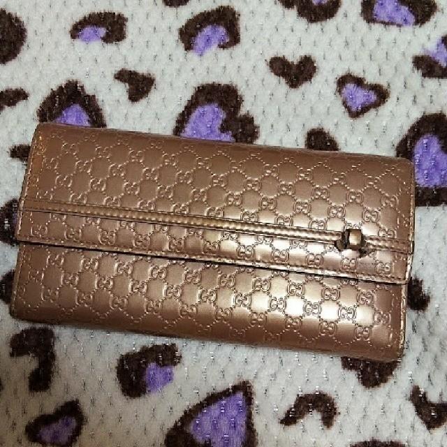 Gucci - 【正規品】GUCCI 財布 メタリックピンク ダブルハートの通販