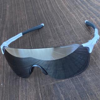 Oakley - 【未使用】◆オークリー EVゼロ ストライド★ブラック ミラー サングラス 白