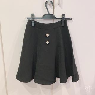 エブリン(evelyn)のAn MILLE ビジュー付き スカート(ひざ丈スカート)