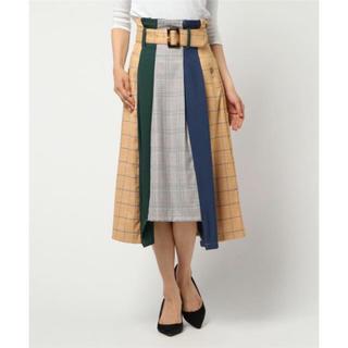レディアゼル(REDYAZEL)のREDYAZEL チェック配色ミモレ丈スカート(ロングスカート)
