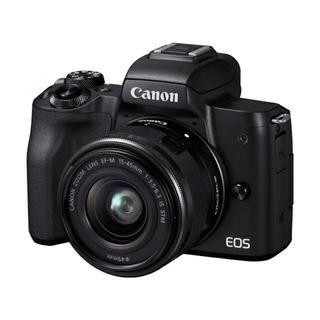 Canon - 新品未使用 Canon  EOS Kiss M レンズキット ブラック 保証付き