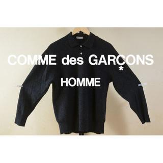 COMME des GARCONS - {AD表記無}コムデギャルソンオム ウールセーター ニット デカオム