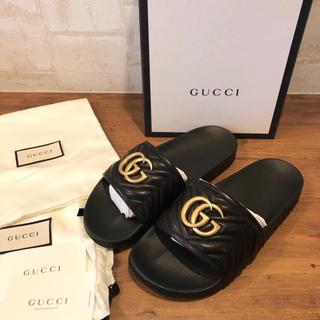 Gucci - 新品 100%本物 gucci ggロゴ サンダル グッチ