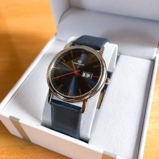 スカーゲン(SKAGEN)の未使用♪ DANISH DESIGN チタン 紺 シンプル 北欧 デンマーク(腕時計(アナログ))