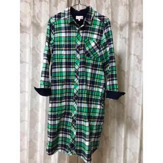 チチカカ(titicaca)のシャツワンピースチェックシャツ(ひざ丈ワンピース)