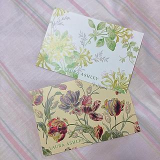 LAURA ASHLEY - ローラアシュレイ ♡非売品♡ポストカード♡2枚セット