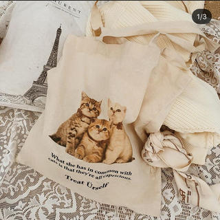 one after another NICE CLAUP - 新品未開封 treat urself cat totebag