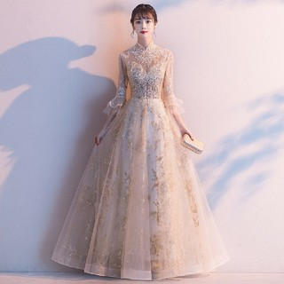 ウエディングドレスaライン格安袖ありレースウェディングドレス花嫁