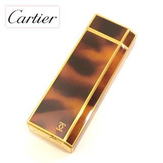 カルティエ(Cartier)の【美品】カルティエ Cartier マーブルブラウン ライター(タバコグッズ)