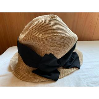 ネストローブ(nest Robe)のpaper hat(麦わら帽子/ストローハット)