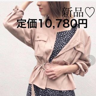 MISCH MASCH - 新品タグ付き 定価10,780円 ミッシュマッシュ ベルト付きシャツブルゾン