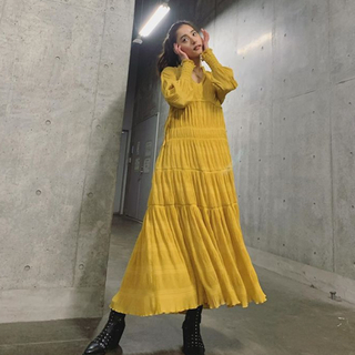Ameri VINTAGE - ameri vintage アメリ SHIRRING PLEATS DRESS