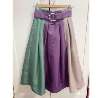 レディアゼル(REDYAZEL)のRADYAZEL レディアゼル 配色スカート 3色(ひざ丈スカート)