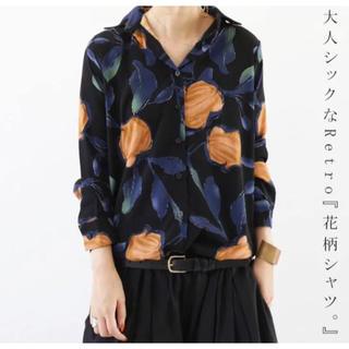 antiqua - レトロ花柄シャツ