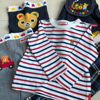 mikihouse - ☆ミキハウス☆ 5点セット(長袖Tシャツ、スパッツ2枚、チェックパンツ、リュック