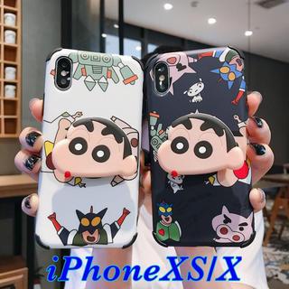 大人気 クレヨンしんちゃん iPhoneケース ソケット付 ホワイト/ブラック