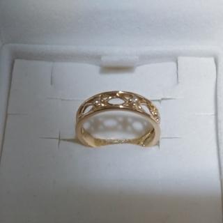 ヴァンドームアオヤマ(Vendome Aoyama)のピカピカほぼ新品 3号 ヴァンドーム青山  透かし ダイヤ ピンキー(リング(指輪))