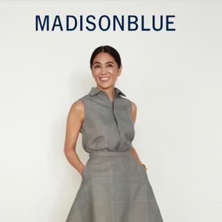 MADISONBLUE - 【MADISON BLUE】ウールグレンチェックノースリーブシャツ/00
