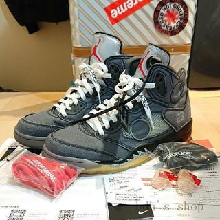 ナイキ(NIKE)のOff-White × Nike Air Jordan 5 CT8480-001(スニーカー)