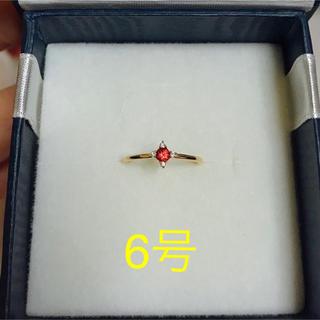 ブルーム(BLOOM)の新品未使用☆オレンジサファイア リング(リング(指輪))