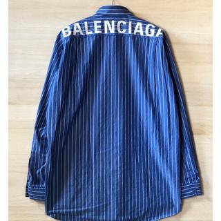 Balenciaga - BALENCIAGA ロゴ ストライプシャツ バレンシアガ
