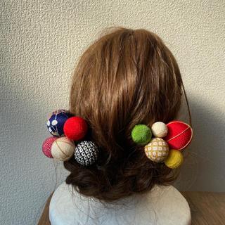 玉飾りの髪飾り【A4】(和装小物)