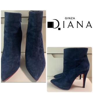 DIANA - ダイアナ ネイビースエード  ショートブーツ