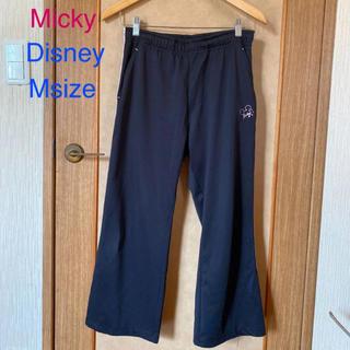 ディズニー(Disney)のDisney micky 黒×ピンク ジャージ下 ズボン M size(ウェア)